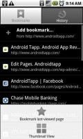 Skyfire Mobile Browser Bookmarks