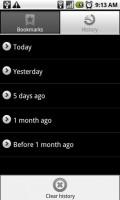 Skyfire Mobile Browser History
