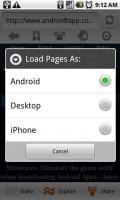 Skyfire Mobile Browser Toggle Browser Header Type