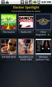 Slacker Radio Spotlight
