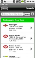 SnapFinger Located Restaurants