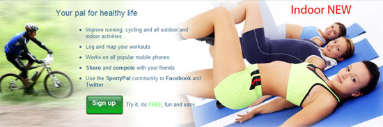 SportyPal Indoor Now on the Web