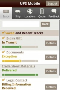 UPS Mobile Track