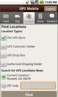 UPS Mobile for Android Locations