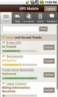 UPS Mobile for Android Track