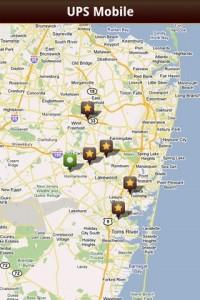 UPS Mobile on Google Maps