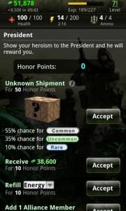 World War President Honor Points