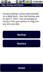 iTag Backup and Restore