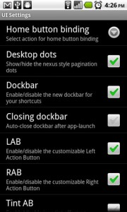 ADW.Launcher UI Settings