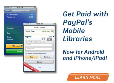 Android Developers: PayPal Offering Solutions to get Paid from Android Apps