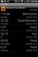 CashLog Spending Screen