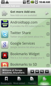 Dolphin Browser HD Add-ons