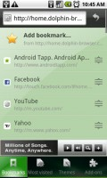 Dolphin Browser HD Bookmarks