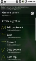 Dolphin Browser HD Gesture Options