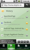 Dolphin Browser HD History