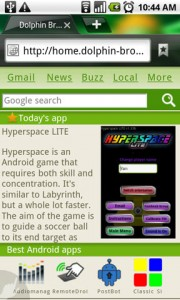 Dolphin Browser HD Start Page App Recommendations