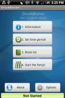DrunkBlocker Main Screen
