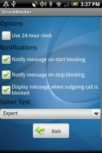 DrunkBlocker Options