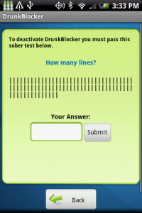 DrunkBlocker Sample Question 1