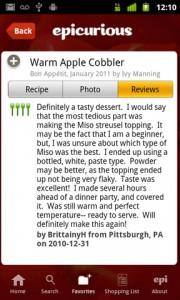 Epicurious Recipe App Recipe Reviews
