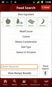 Epicurious Recipe App Search Recipes