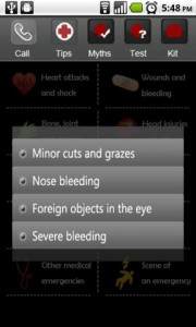 First Aid Treatment Categories