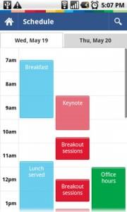 Google I/O 2010 Schedule