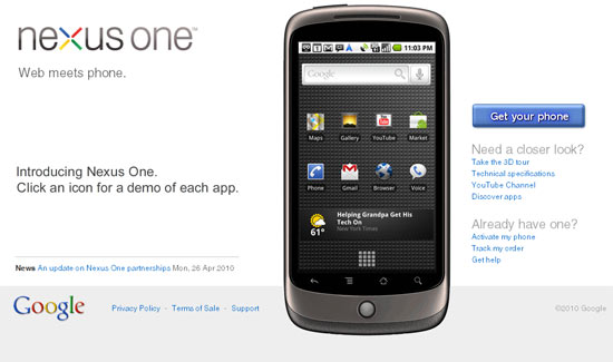 Fail: Google's Phone Web Store. Nexus One Headed to More Retail Stores