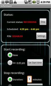 Informant Recording