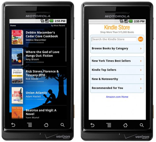 Kindle App for Android Coming Soon
