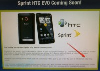 Pre-Orders for HTC Evo Later this Month at The Shack?