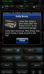 Racing Live Daily Bonus