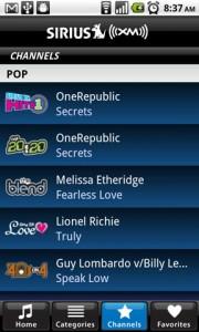SIRIUS XM Radio Channels