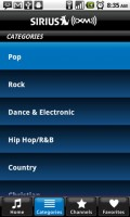 SIRIUS XM Radio Music Categories
