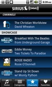 SIRIUS XM Radio Showcase Channels