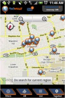 Tagwhat Map View on Android