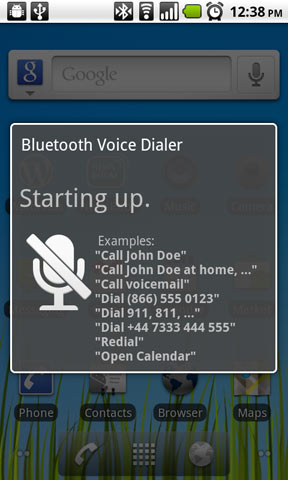 True Hands-Free Driving and Bluetooth Voice Dialing is in Android 2.2