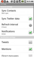 Twitter for Android General Settings