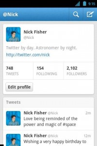 Twitter for Android Profile