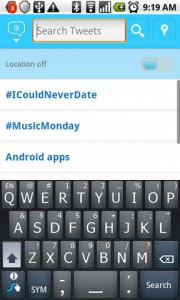 Twitter for Android Search