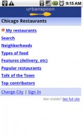 Urbanspoon Browse Restaurants