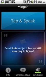 Vlingo Tap and Speak