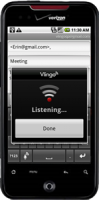 Vlingo for Android in Email