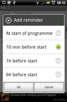 TV-Guide UK Add Reminders