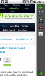 Dolphin Browser HD2 Add-ons Toolbar