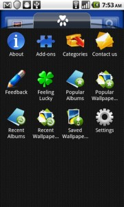 Flikie Wallpapers App Addons Drawer