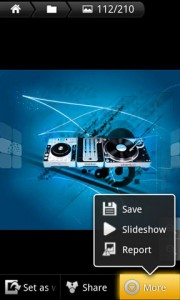 Flikie Wallpapers Image Save and Slideshow Options