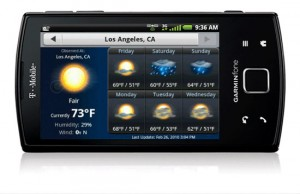 Garminfone Weather Forecasts