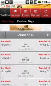 Goal Mobile Knockout Stage