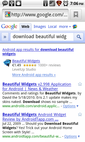Google Mobile Search Now Searches Android Apps